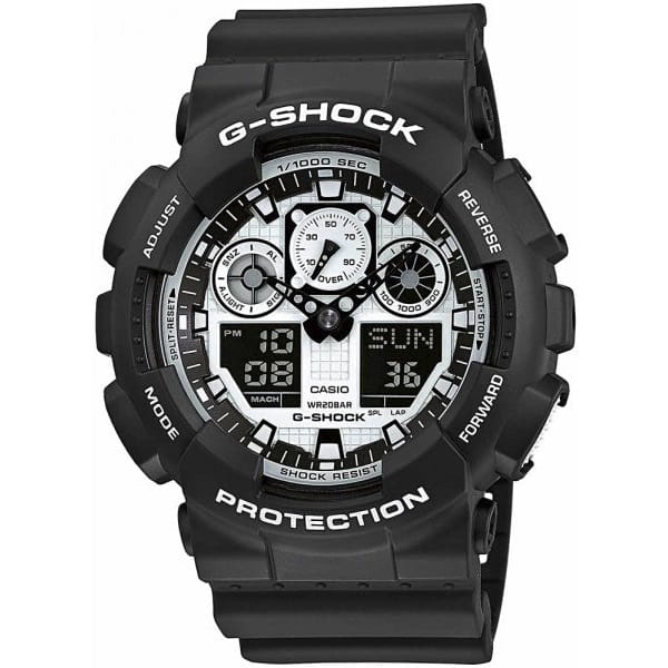Zegarek męski Casio G-Shock GA-100BW-1A